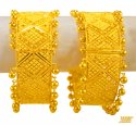 22K Yellow Gold Kada (Pair) - Click here to buy online - 5,780 only..