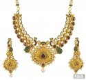 Click here to View - 22k Antique Bridal Kundan Set