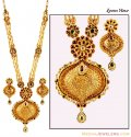 22K Kundan Patta Bridal  Set - Click here to buy online - 7,301 only..