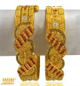 Three Tone 22K Gold Kadas - Click here to buy online - 3,391 only..
