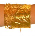 22Kt Gold Designer Cuff Kada (1 Pc) - Click here to buy online - 2,019 only..