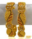 Click here to View - Three Tone 22Karat Gold Kadas (2pc)
