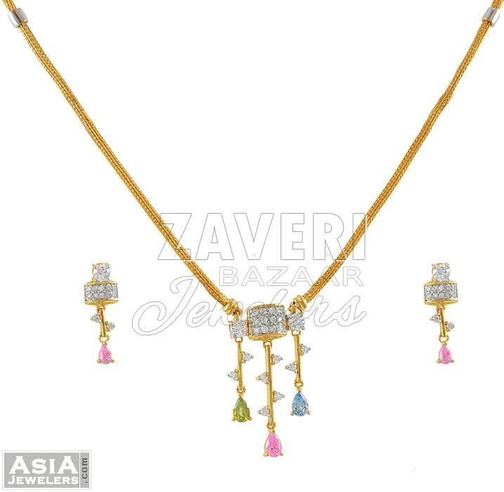 Fancy Signity Necklace Set