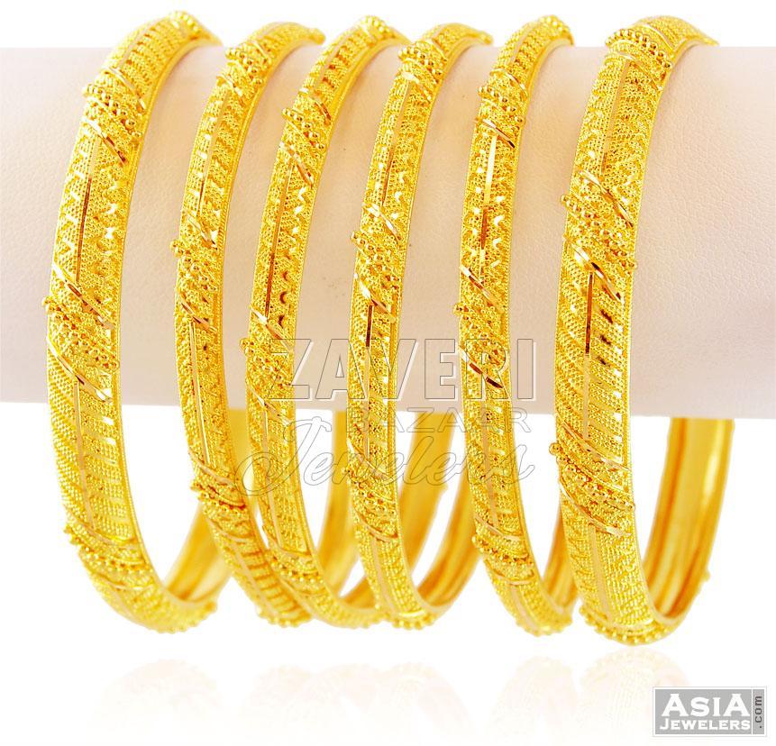 Indian Gold Bangles (set 2)