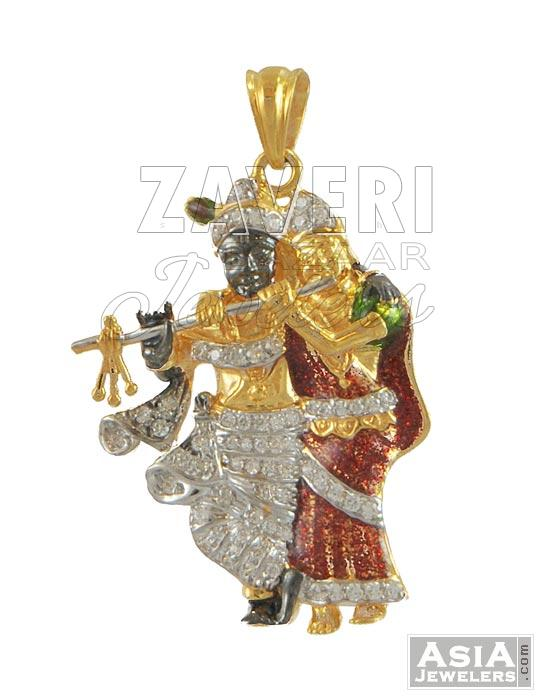 Krishna pendant 22k gold radha krishna pendant 22k gold aloadofball Gallery
