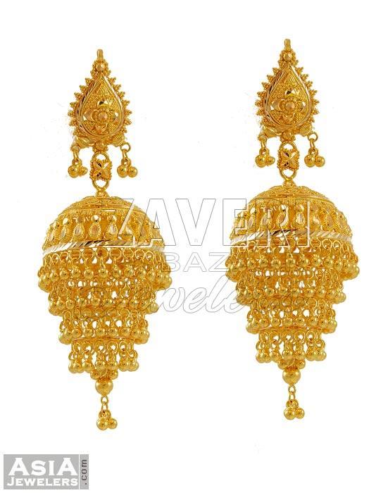 Designer Gold Chandelier Earrings