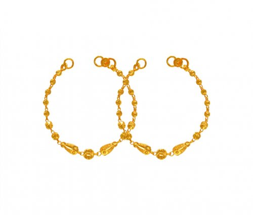 22K Gold Kids Bracelet (2PC)