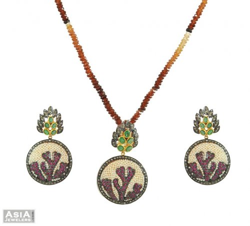 Nizam Diamond Pendant Set