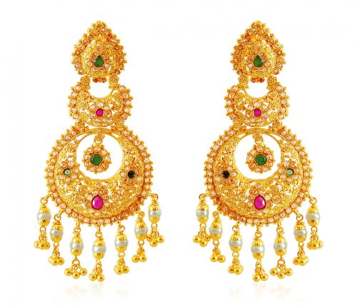 22k Chand bali Jhumka Earrings