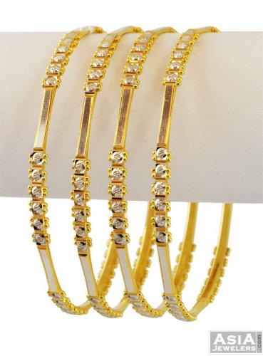 Indian 22K Gold Bangles - AjBa56412 - Indian 22K Gold ...