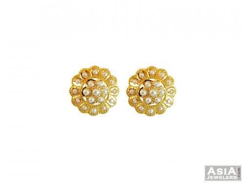 22k Gold Fancy Pearls Studs