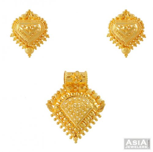 gold india detail pendant id at rs tanishq set proddetail