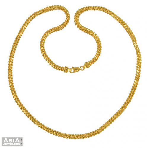 Gold Foxtail Chain 21 Inches asch54832 22K yellow Gold Foxtail