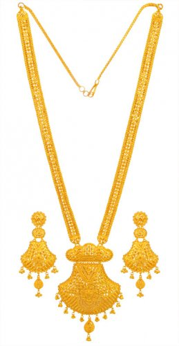 22K Gold Bridal Patta  Set