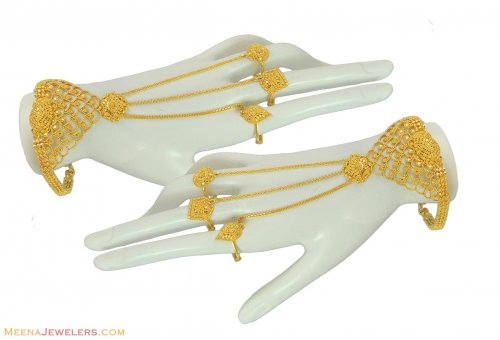 22k Filigree Exclusive Panja 2 Pcs Ajbr55158 22k Gold Bridal