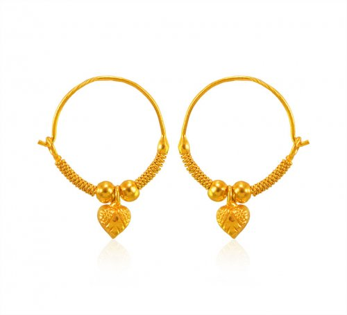 22k Gold Kids Hoops Earring