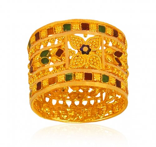 22 KT Gold Fancy Meenakari band