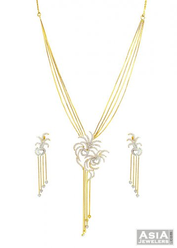Designer pendant style necklace set ajns57430 22kt designer gold designer pendant style necklace set mozeypictures Choice Image