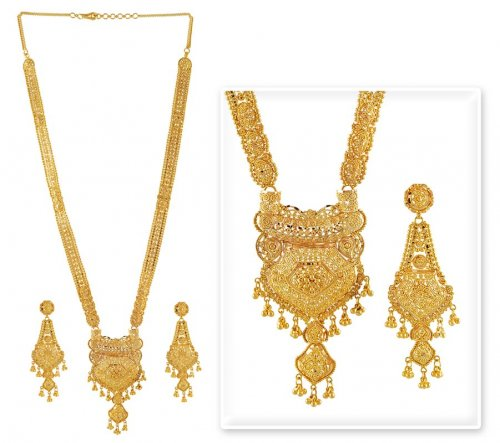 Gold Patta Necklace Set