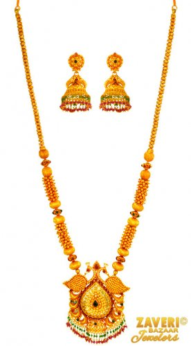 22 kt Gold Traditional Temple Set