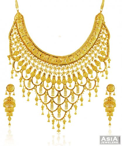 gold collections designers beautiful dharani necklace zoom designs plated laxmi buy online set