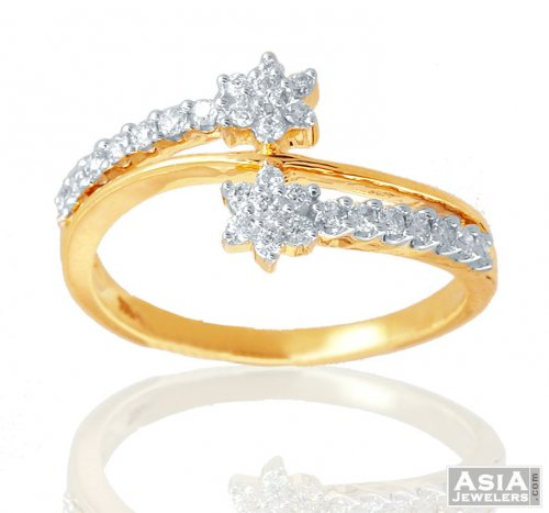 Fancy Gold 18K Diamond Ring AjDr 18k Yellow Gold La s