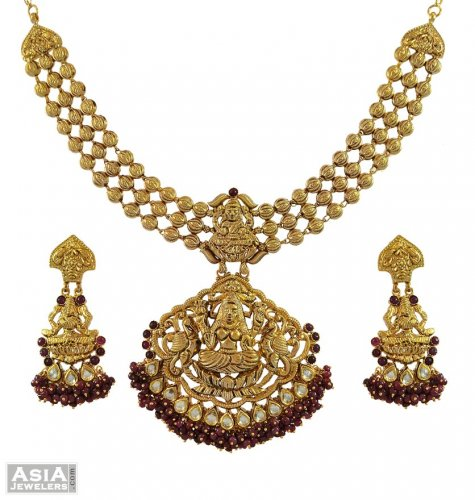 22K Gold Designer Temple Jewelry