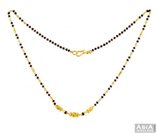 22k Fancy Beads Mangalsutra Ajch56531 22k Gold Mangalsutra