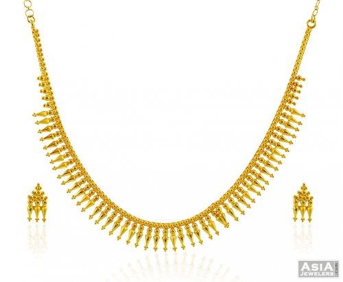 22k Traditional South Indian Set AjNs58138 22K Gold Fancy