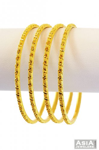 c0ea4d71e 22K Gold Bangles (4 Pc) - AjBa56551 - 22k Gold bangles (4 Pc) with ...