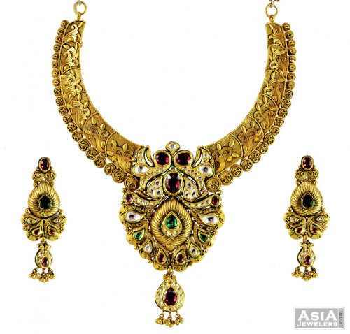 22K Designer Bridal Antique Set