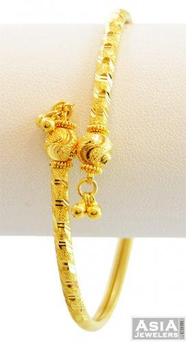 22k Ladies Yellow Gold Cuff Kada Ajba57050 22k Gold
