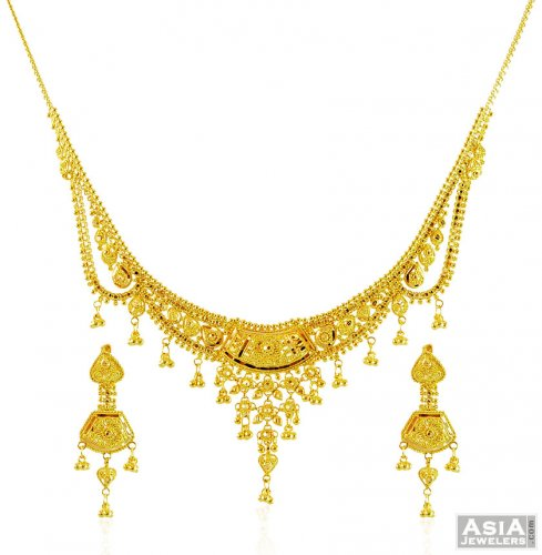 necklace set gold beautiful daimond kalaikv diamond arts