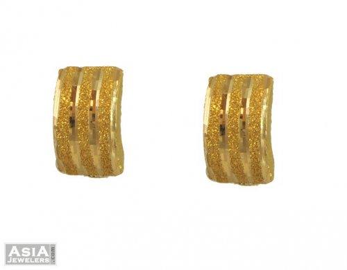 21K Gold Clipon Earrings AjEr54746 21 Karat Gold Clipon