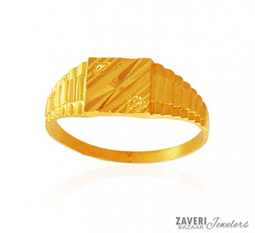 Mens fancy Gold Ring AjRi 22K Gold Men s Ring designed in