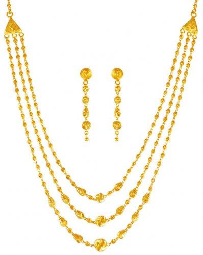 22k Gold Layered Necklace Set Ajns63284 Us 1 965 22k Gold