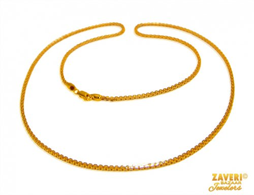 22Kt Gold Two Tone Chain