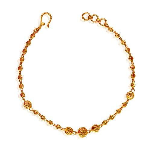 22 karat gold ladies bracelet ajbr62218 22k gold. Black Bedroom Furniture Sets. Home Design Ideas