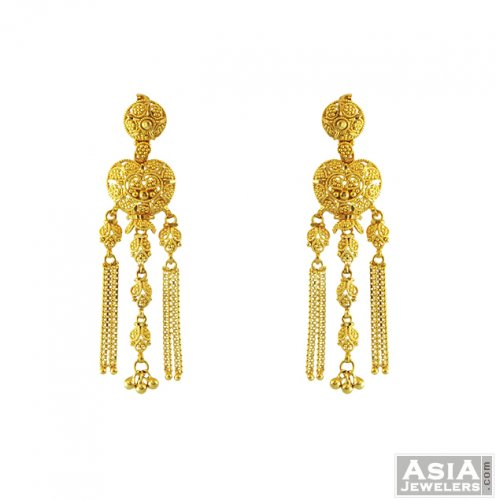 22k Gold Long Earrings