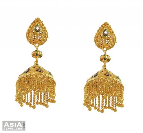 Fancy Chandelier Earrings 22Kt