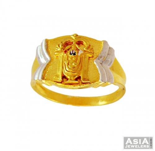 0303b56900ba4 22K Balaji Lord Ring , - AjRi56579 - 22k gold religious mens ring ...