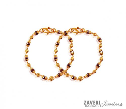 22k Designer Gray Crystals Bracelet