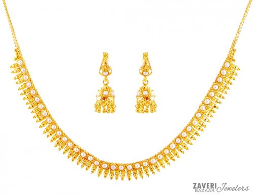22k Traditional South Indian Set AjNs 22K Gold Fancy