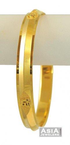 22k Omkara Mens Punjabi Kada Ajba55180 22k Gold