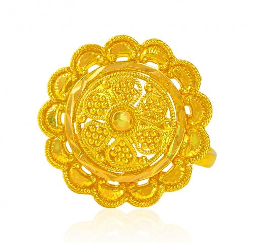 22Kt Gold Ladies Filigree Ring