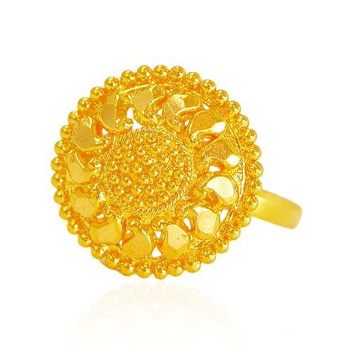 22 karat gold filigree ring ajri62727 22kt gold ring. Black Bedroom Furniture Sets. Home Design Ideas