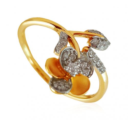 18K Gold Diamond Ladies Ring