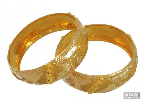 21k Gold Bangles 2pcs AjBa54507 21k gold bangles 2pcs