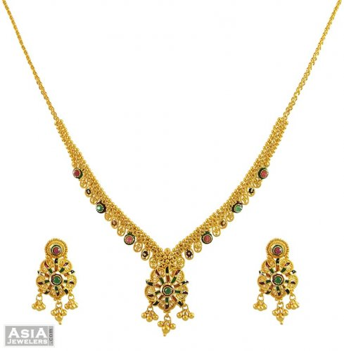 Indian Antique Gold Necklace Sets Antique Indian Gold Necklace