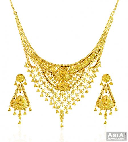 gme fashion jewellery set necklace plated her cj for chaahat gold beautiful